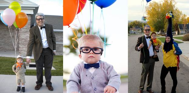 Halloween Costume with Glasses Carl Frederickson from Up