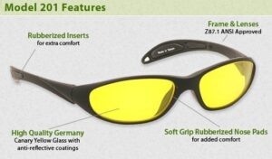 Model 201 Shooting Glasses