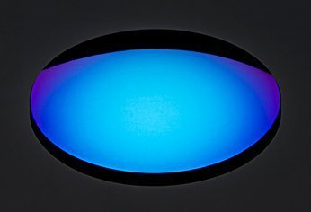 Blue Mirror Coating