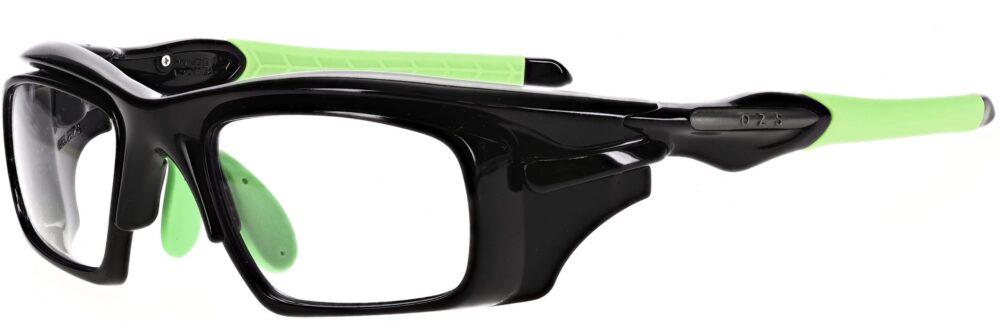 Model RX-WAR101 Safety Glasses in Black/Green RX-WAR101-BKGN