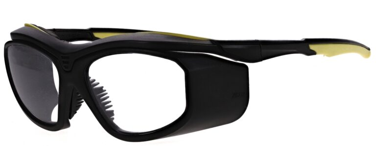 Model RX-F10 Black/Yellow plastic safety glasses RX-F10-BY