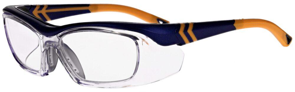 OnGuard Model OG-225S Prescription Safety Glasses in Matte Navy/Orange OG-225S-MNVOR