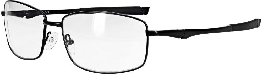 Model RX-116 metal safety glasses in black RX-116-BK