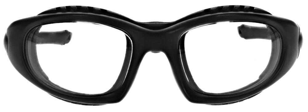 Prescription Wraparound Safety Glasses in Model RX-1362-BK in Black