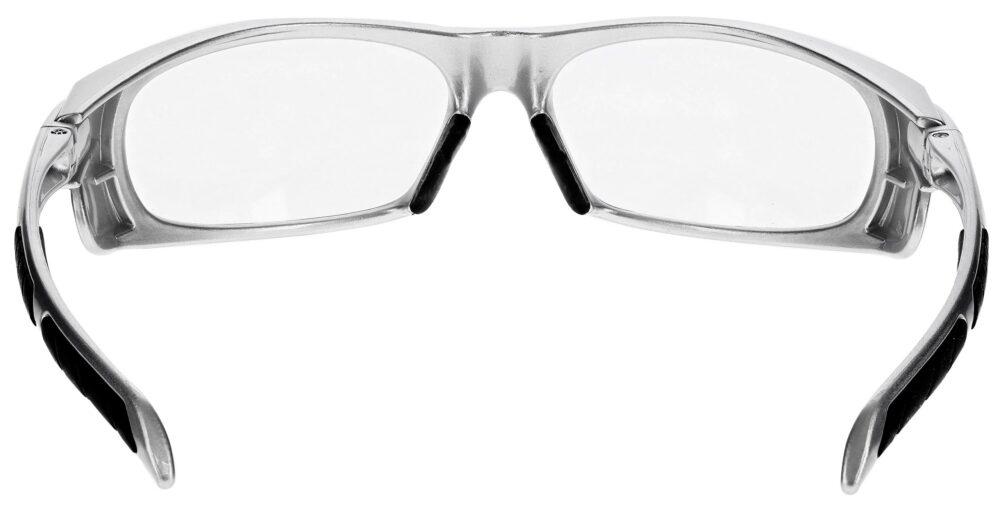 Prescription Wraparound Safety Glasses in Model RX-1388-S in Silver