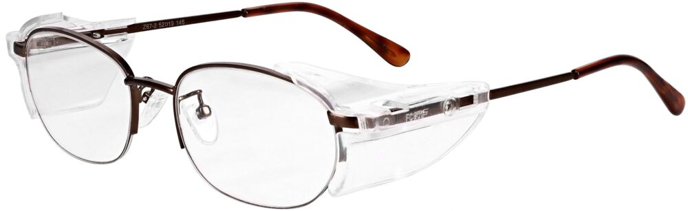 Model RX-180 Safety Glasses in Brown RX-180 Available in 2 sizes