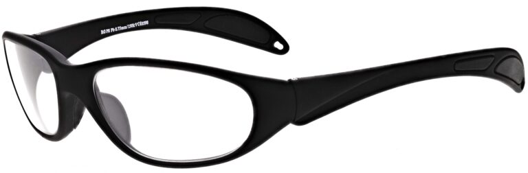 Prescription Wraparound Safety Glasses Model RX-208-BK in Black