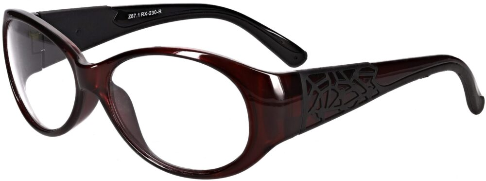 Model RX-230 Safety Glasses in Red with Black accents RX-230-RB