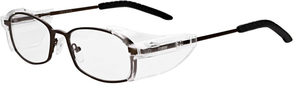Model RX-400 Metal Safety Glasses. Available in 1 color and 2 sizes RX-400-BK