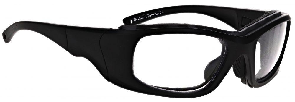 Prescription Wraparound Safety Glasses Model RX-JY7-BK in Black