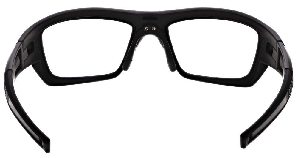 Prescription Wraparound Safety Glasses in Model RX-J136-BK in Black