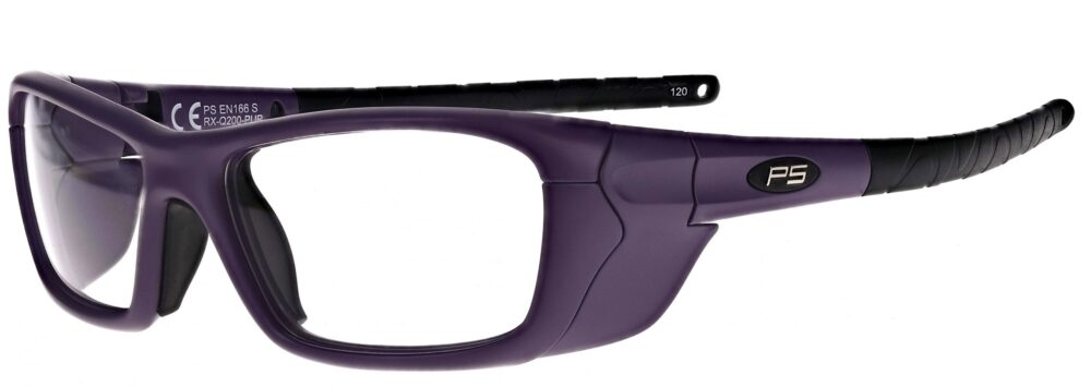 Model RX-Q200 Plastic Safety Glasses in Purple RX-Q200-PUR