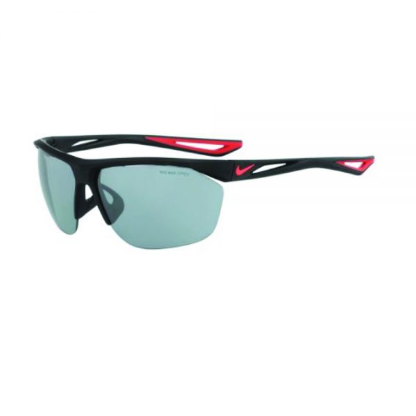 TAILWIND EV  MATTE BLACK BRIGHT CRIMSON WITH GREY W SILVER FLASH LENS