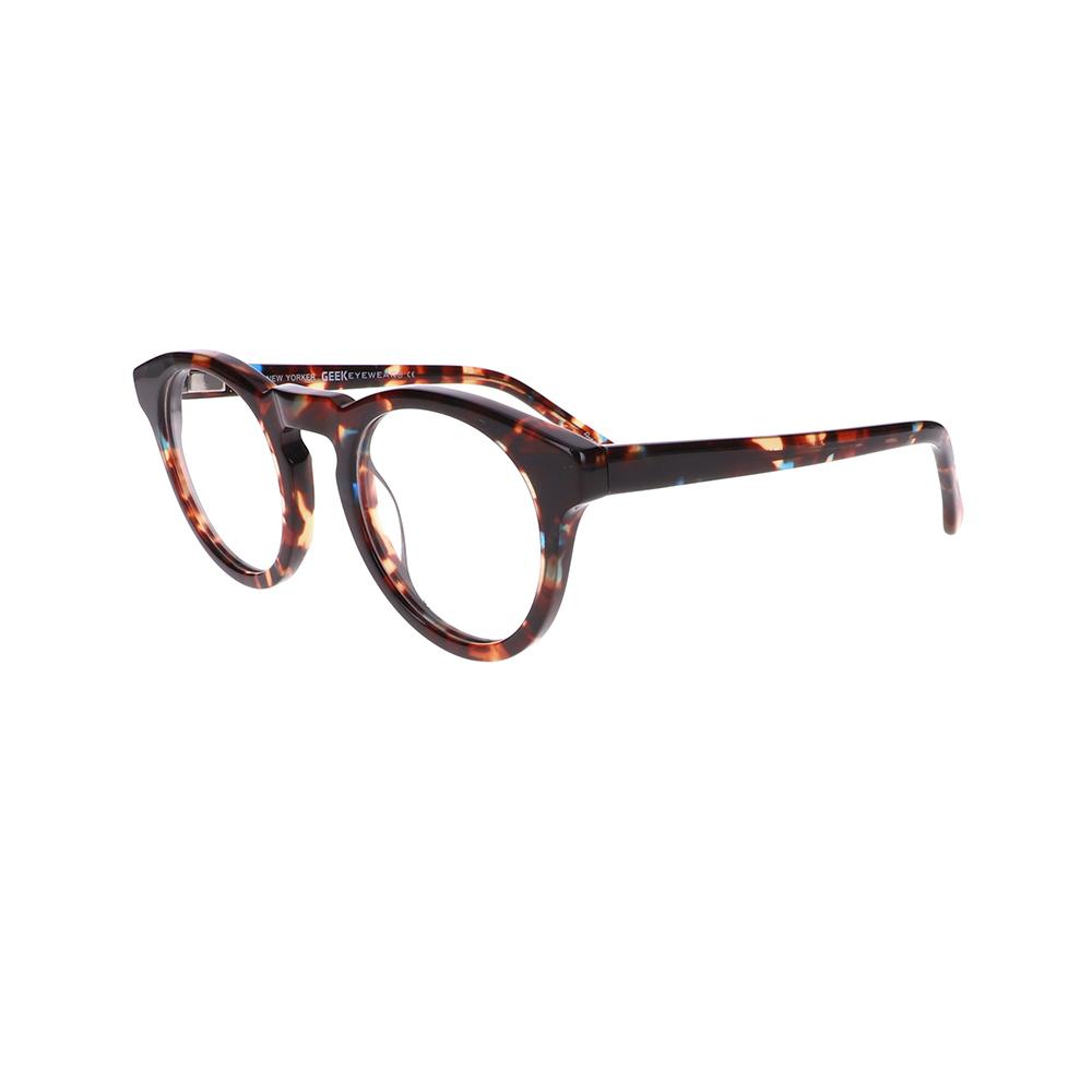 Geek New Yorker Eyeglasses in Demi Brown LBI-GK-NEWYORKER-DBN