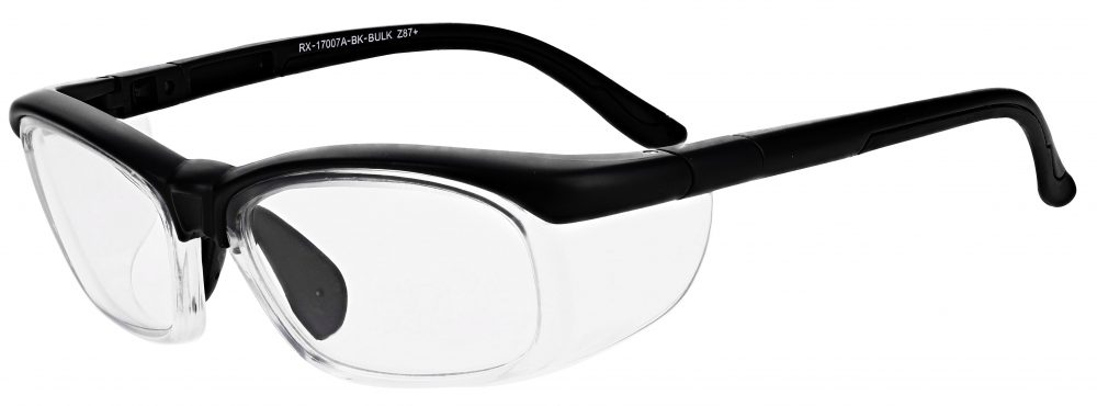 Model RX-17007A Safety Glasses in Black RX-17007A-BK