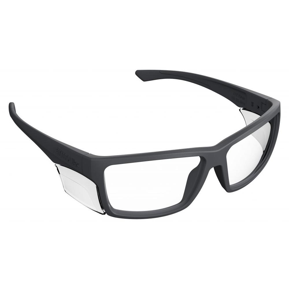 Radiation Safety Glasses in Black Rectangular Hipster Plastic Frame with High