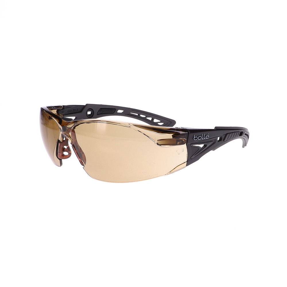 Bolle Rush+ Black/Grey Twilight Safety Glasses BO-RUSH+-40225