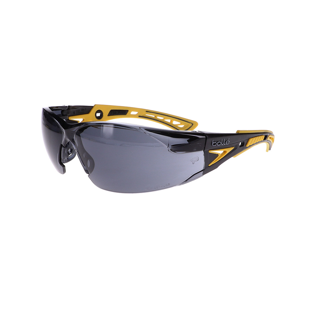 Bolle Rush+ Yellow/Black Smoke Safety Glasses BO-RUSH+-40244