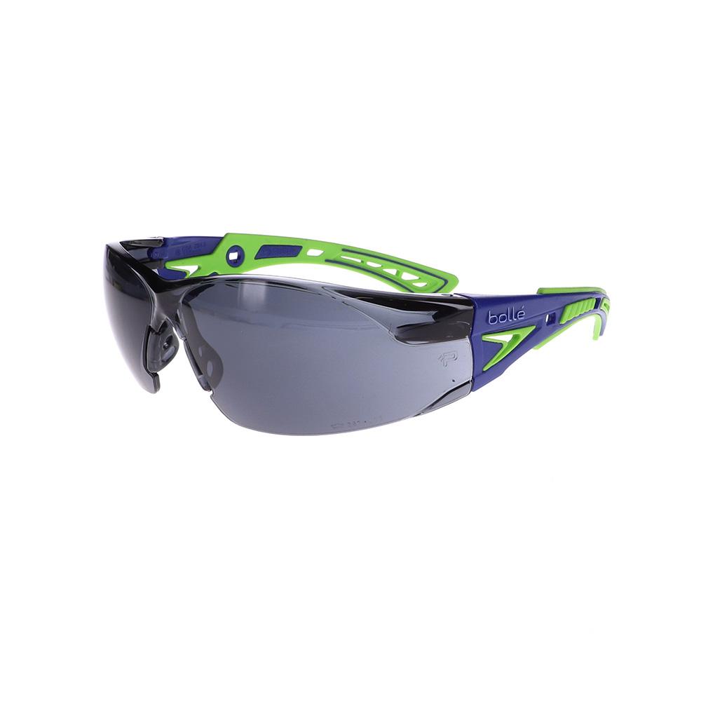 Bolle Rush+ Blue/Green Smoke Safety Glasses BO-RUSH+-40257