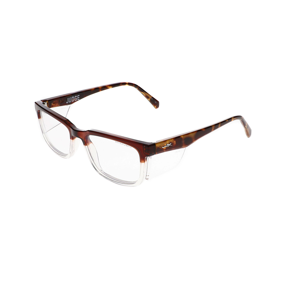Wiley X Worksight Judge Safety Glasses in Gloss Brown to Clear Fade with Brown Demi WX-WSJDG04